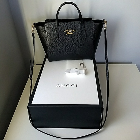 afc72b31203a Gucci Handbags - Authentic black Gucci mini swing bag/ crossbody